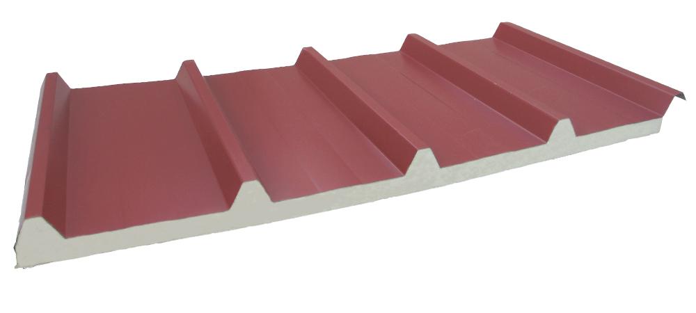 Panel Sandwich cubierta 5G Rojo Teja