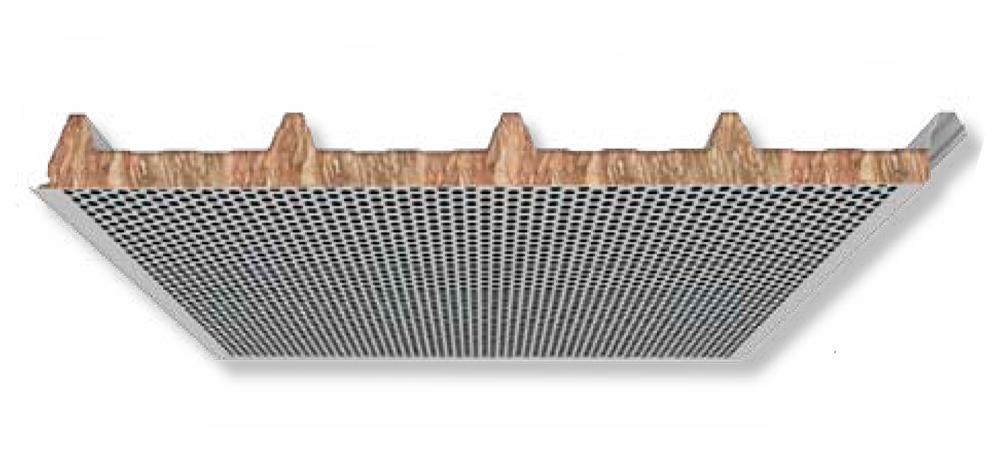 Panel Sandwich cubierta Lana Roca acústico