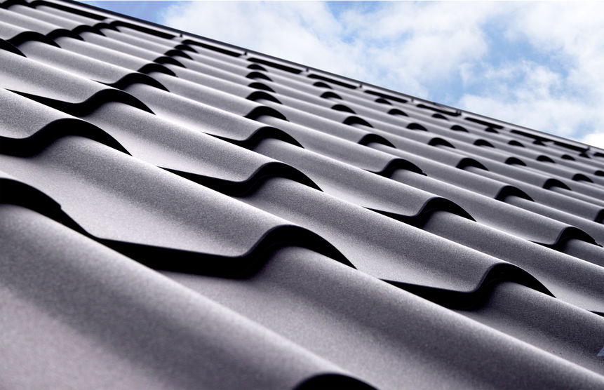 Metal tile. Material for roof.